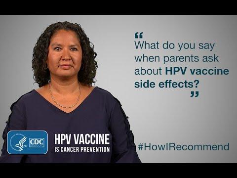 human papillomavirus vaccine side effects