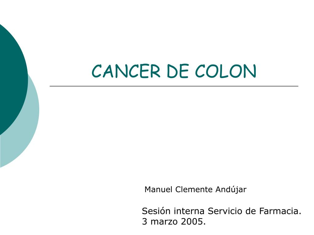 cancer de colon ppt