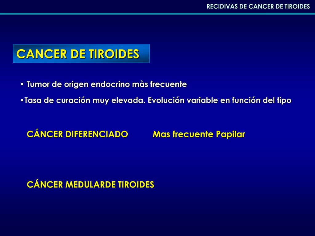 cancer de tiroides mas frecuente)