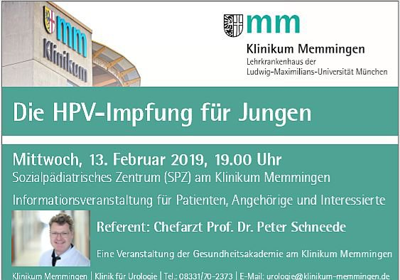 hpv impfung urologe)