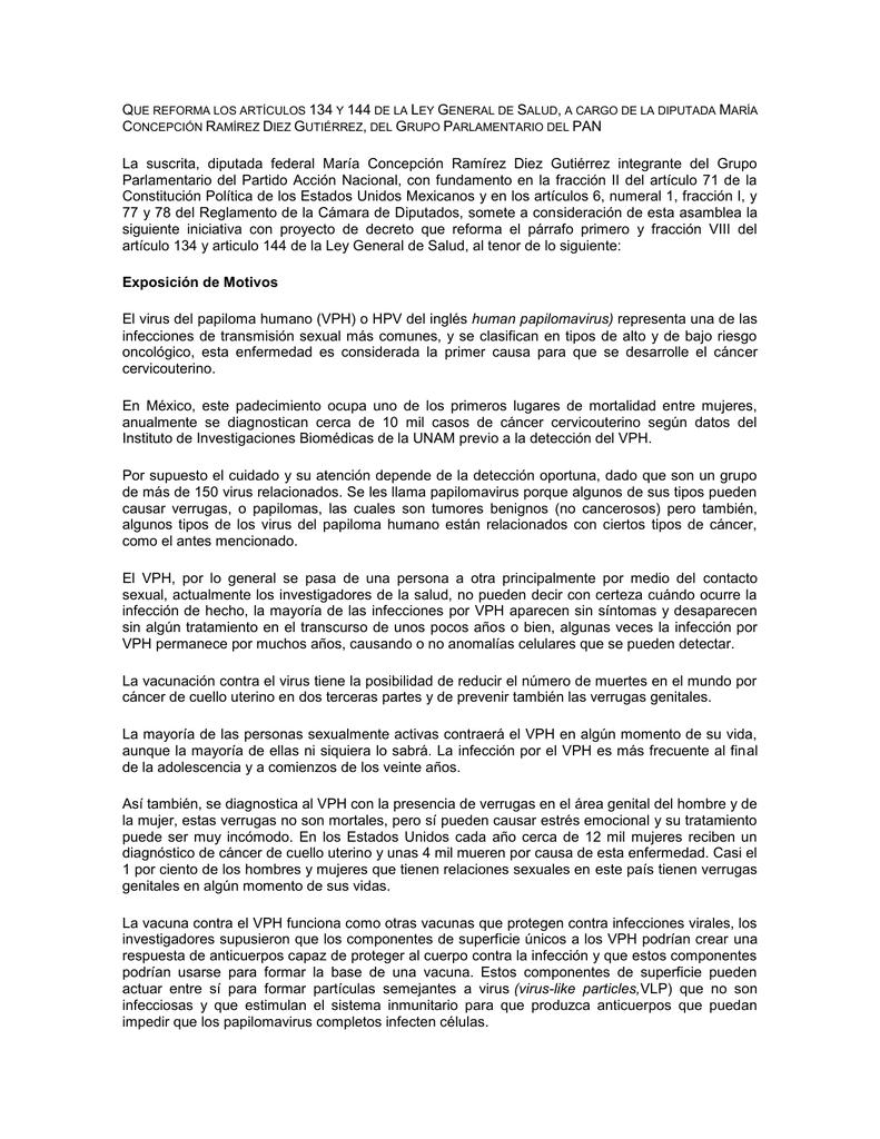 virus papiloma humano articulos)
