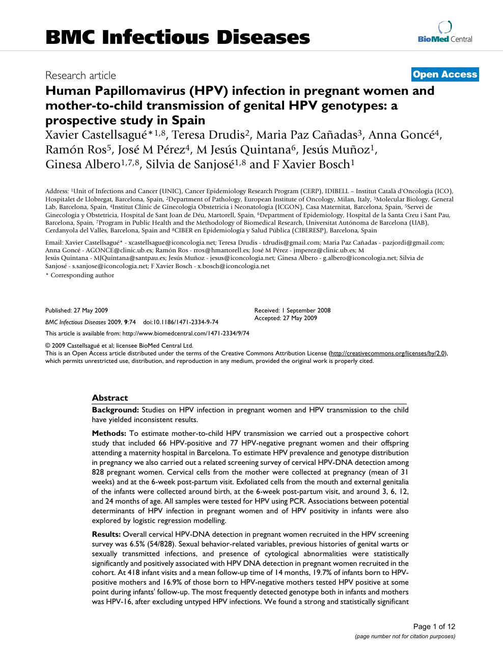 human papillomavirus infection with pregnancy)