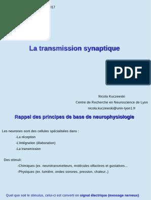 epreuve corrige bac transmission synaptique et toxine