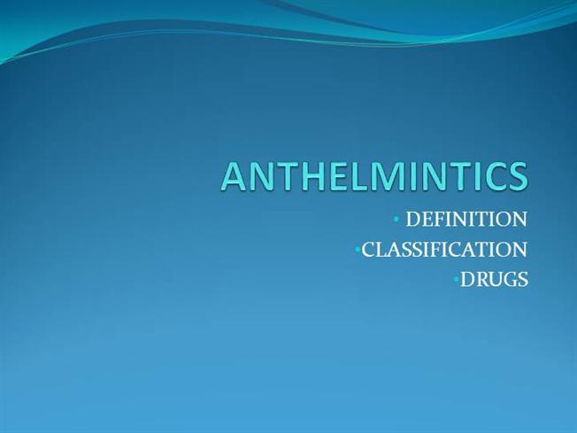 anthelmintic drugs definition