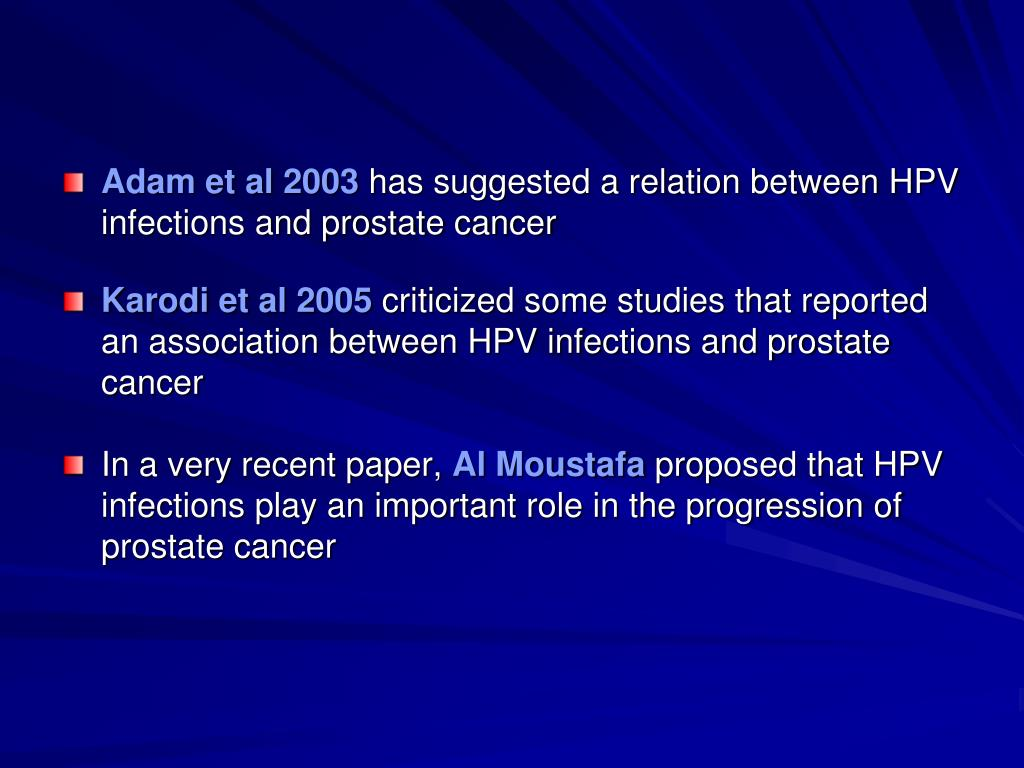 is there a link between hpv and prostate cancer detoxifiere fiere si ficat
