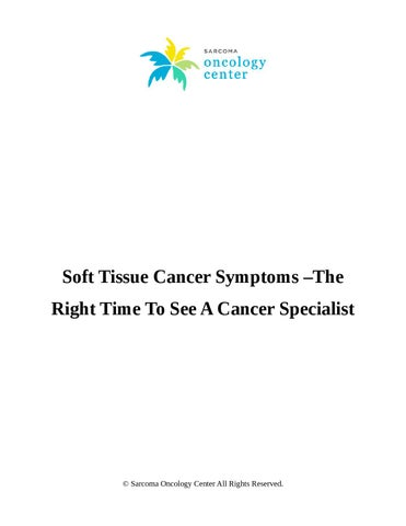 sarcoma cancer specialists)
