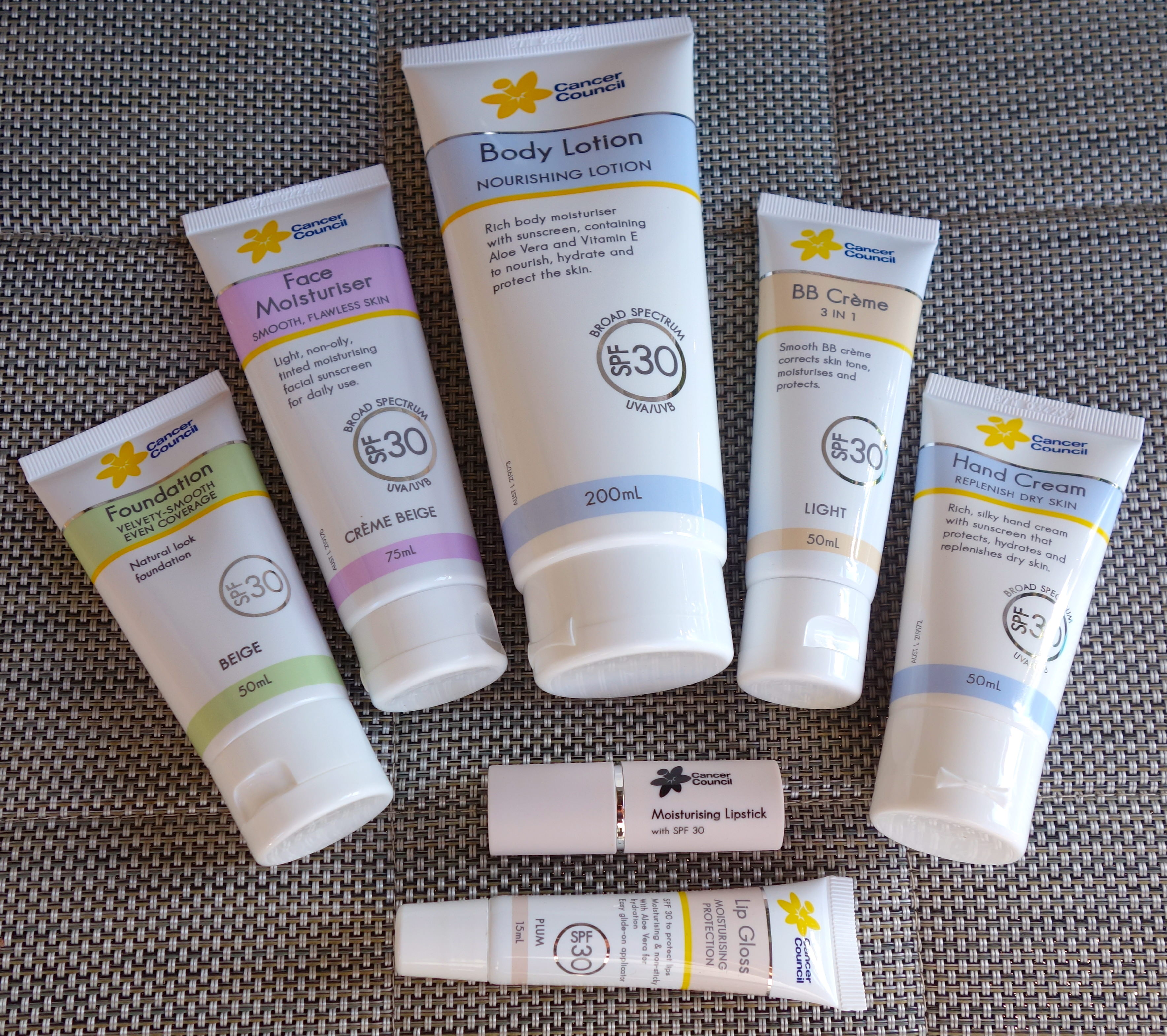 cancer council professional sunscreen for scars