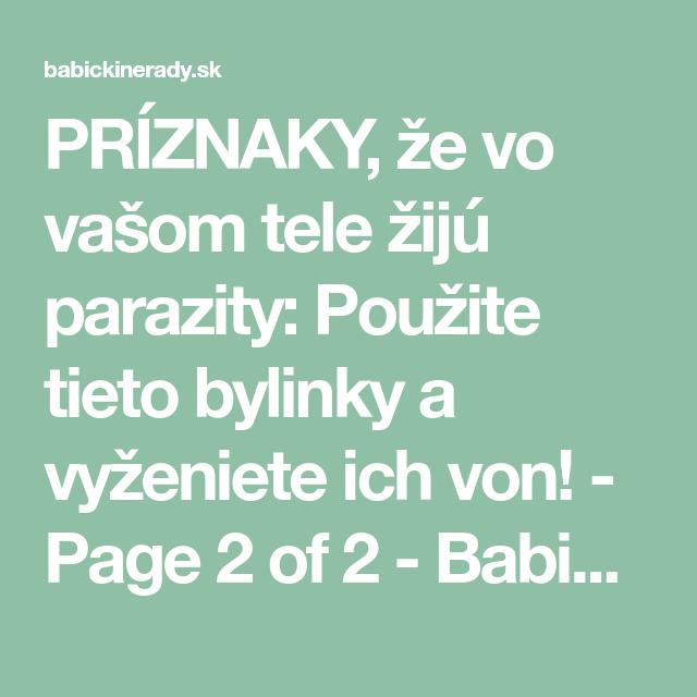 bylinky na parazity v tele)