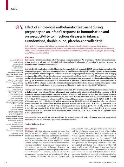anthelmintic treatment