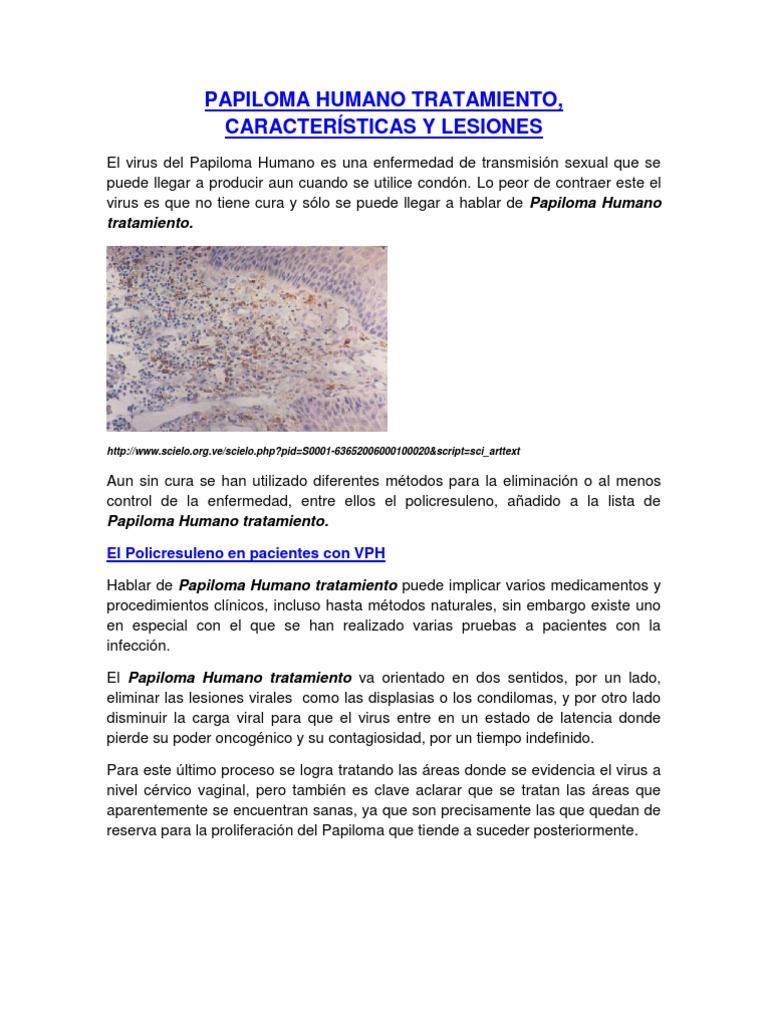 papiloma humano caracteristicas