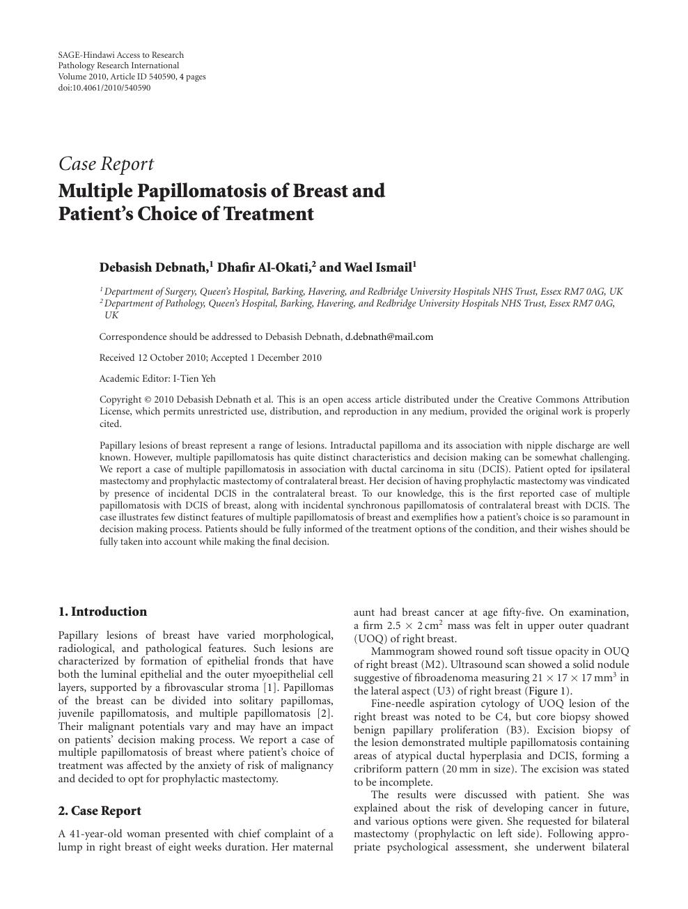 intraductal papilloma breast nhs