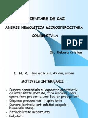anemie hemolitica ereditara anemie gestationala