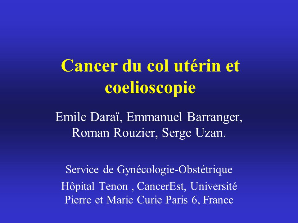 cancer du col uterin metastatique