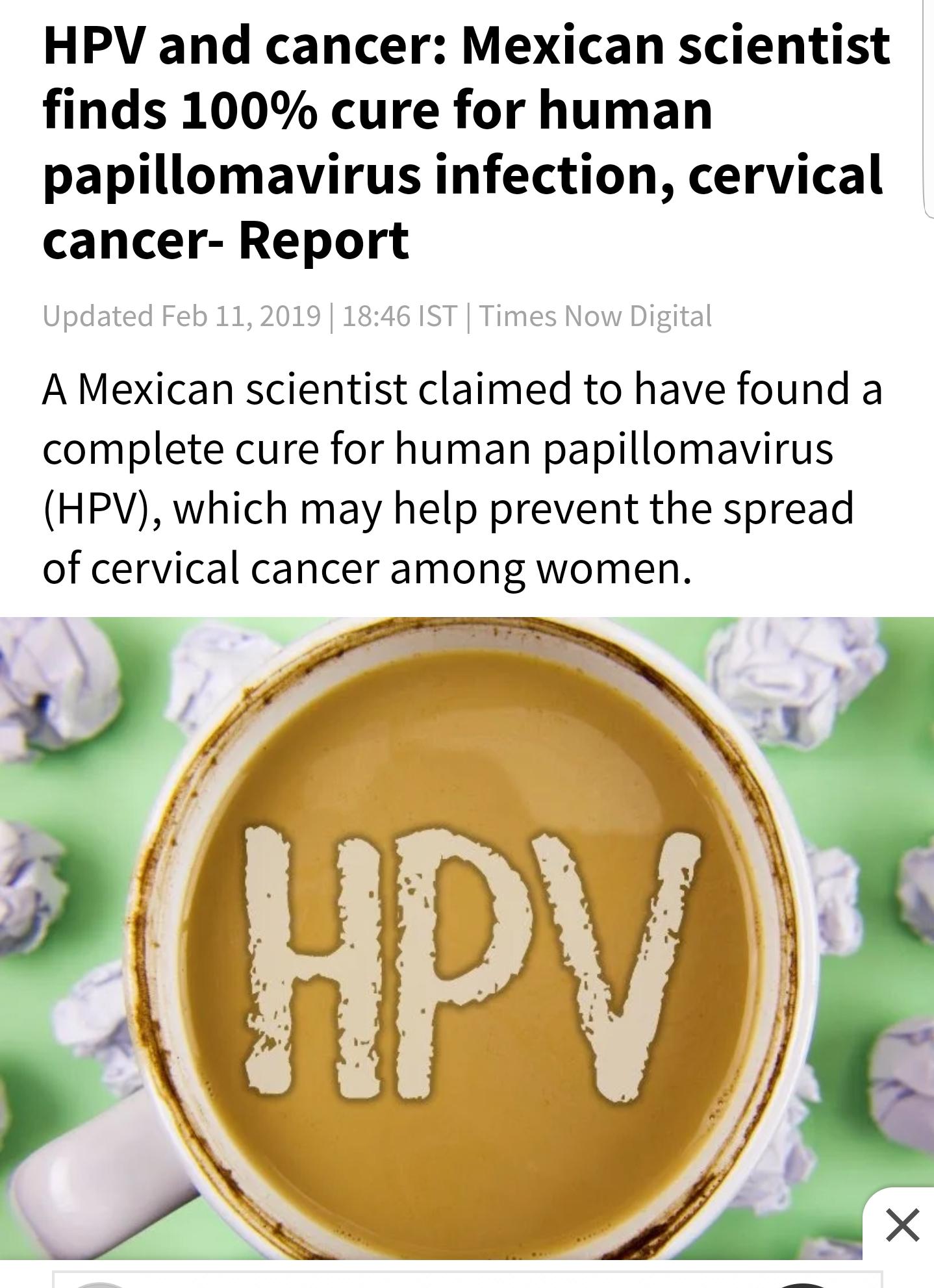 papilloma virus cured