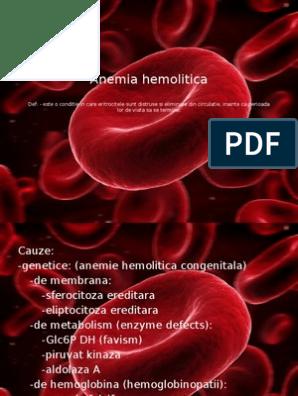 anemie hemolitica ereditara virus del papiloma humano en que tiempo se desarrolla