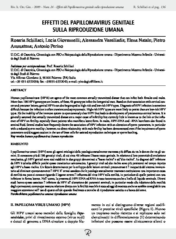 papillomavirus ricerca genoma)