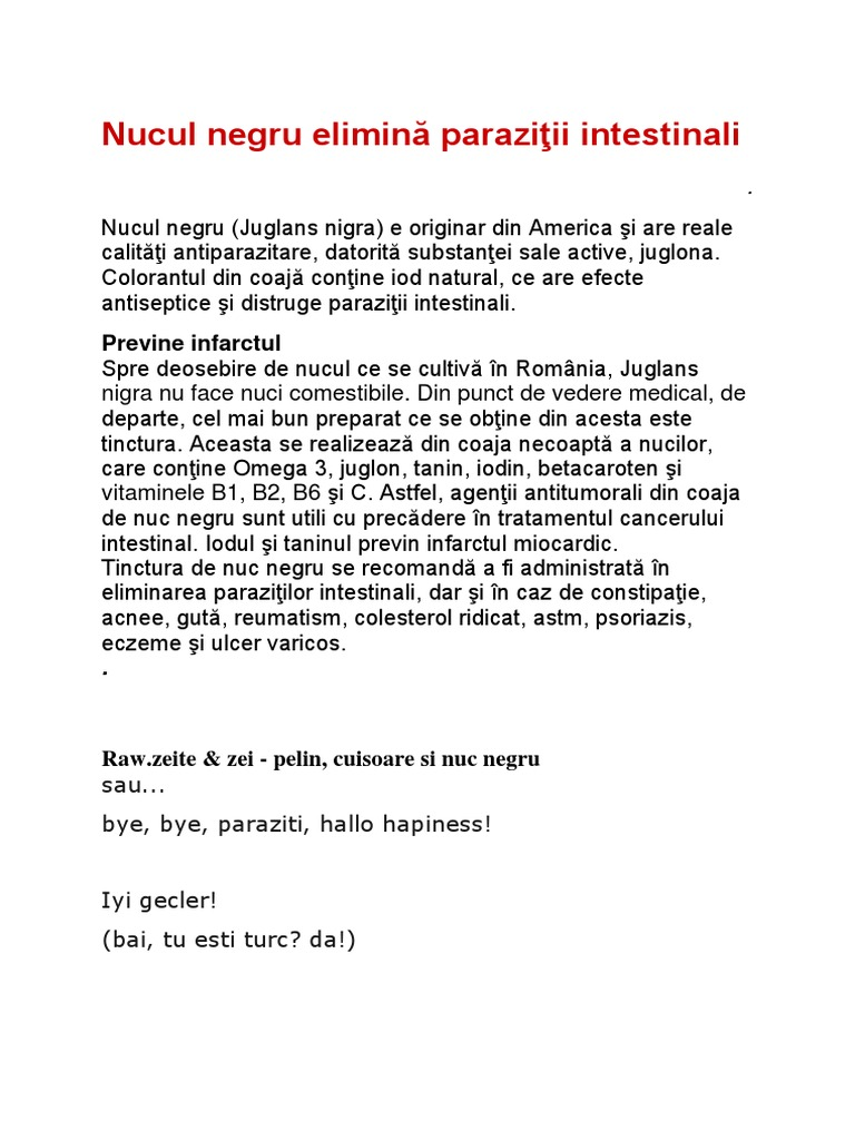 viermi intestinali tradus engleza)
