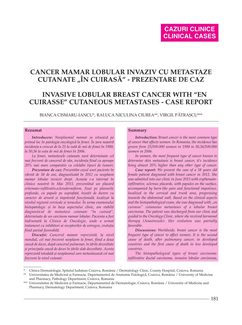 cancerul de san cu metastaze osoase
