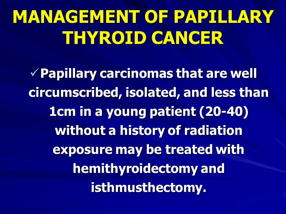papillary thyroid cancer young)