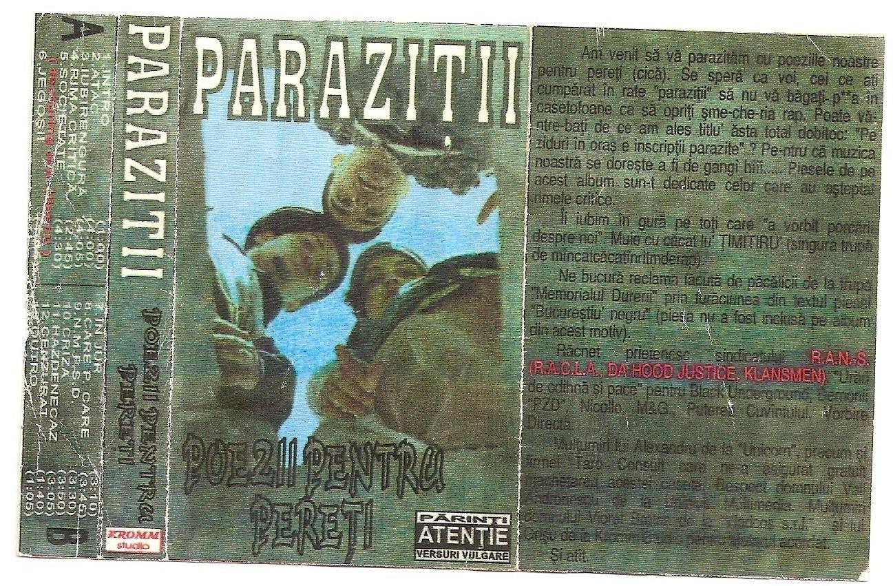 48 oferte pentru Parazitii - Poezii pentru pereti (PRIMUL ALBUM)
