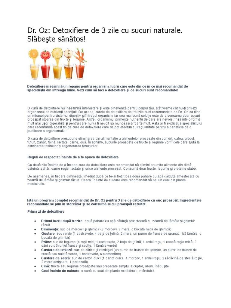 detoxifiere cu sucuri de legume)