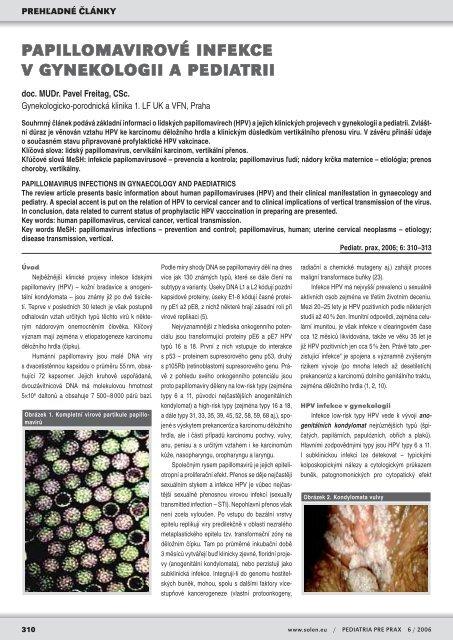 papillomavirus prenos)
