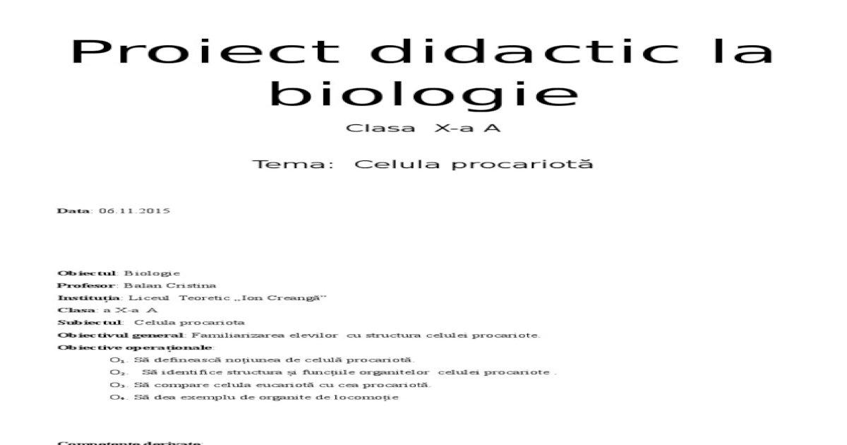 bacterii ți ciuperci proiect didactic)