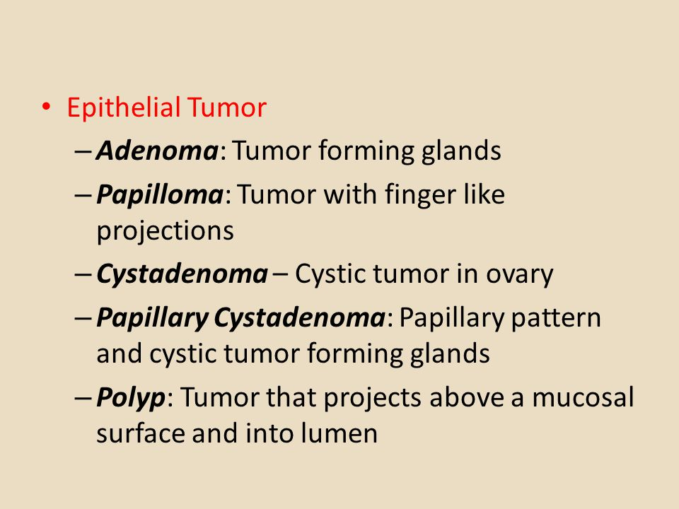 difference between papilloma and polyp