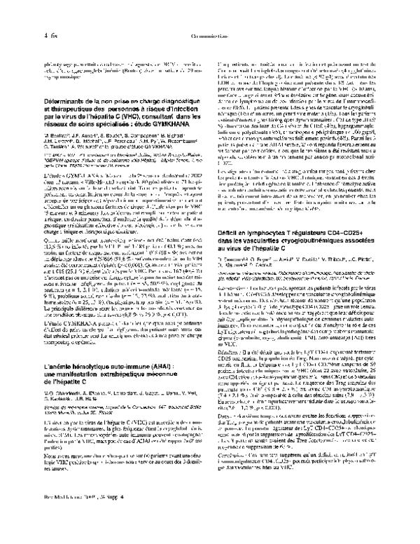 hepatite c anemie)