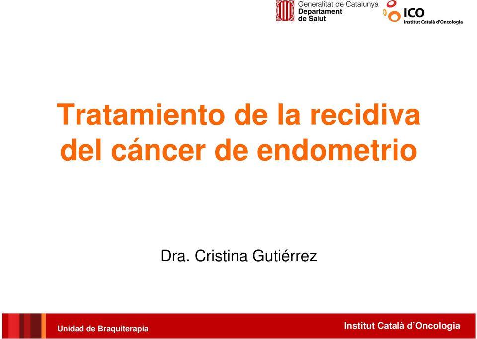 cancer endometrial recidiva)