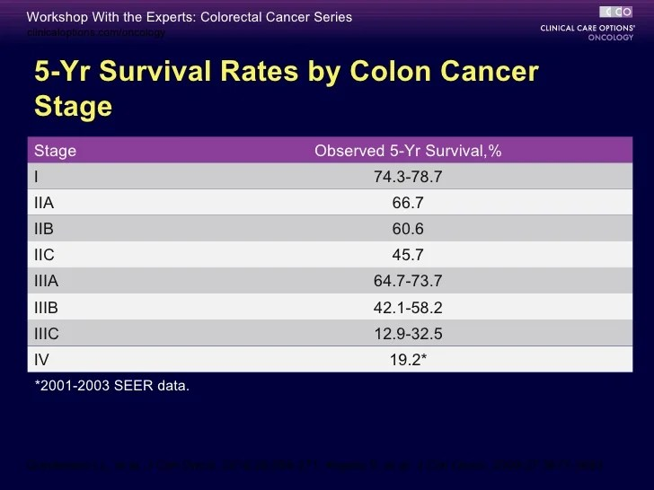 rectal cancer stage 3 survival rate)