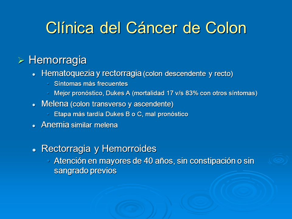 cancer de colon hemorroides