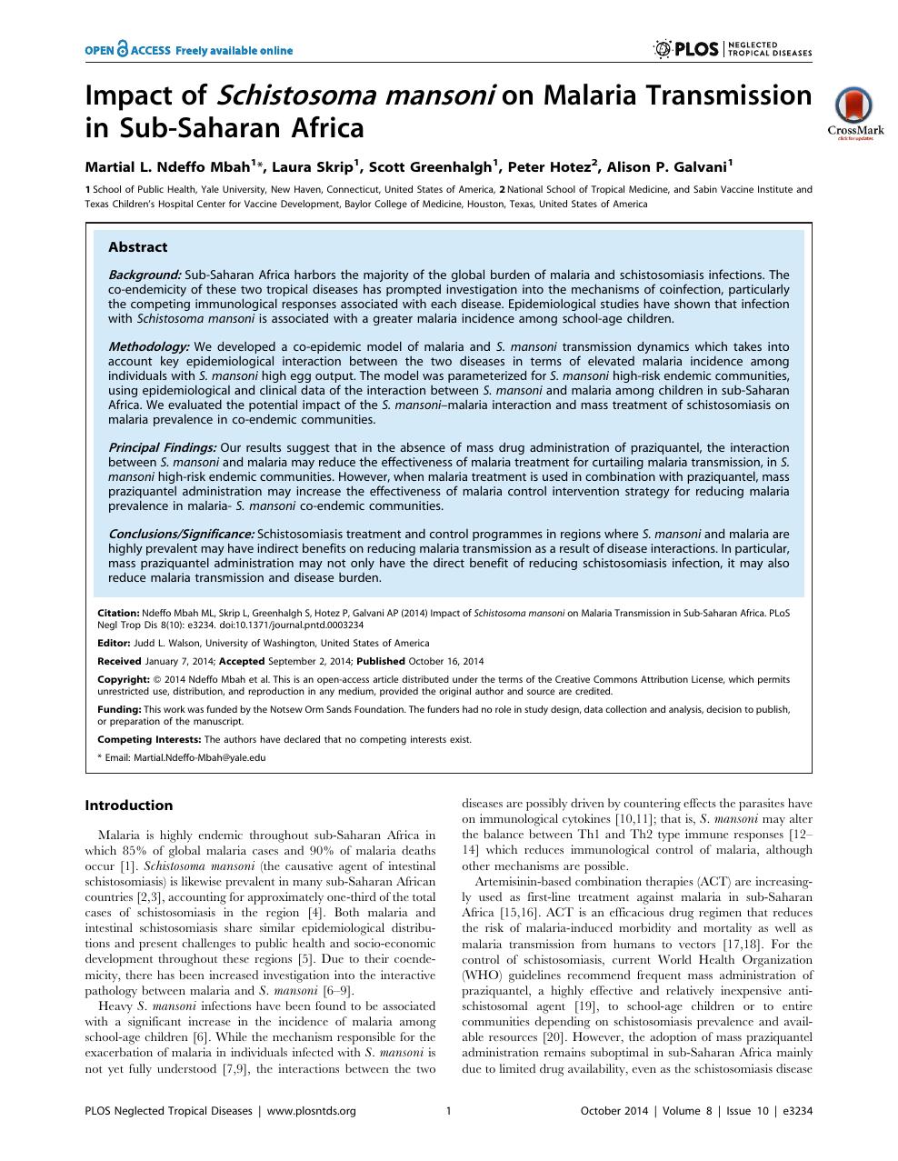 schistosomiasis united states