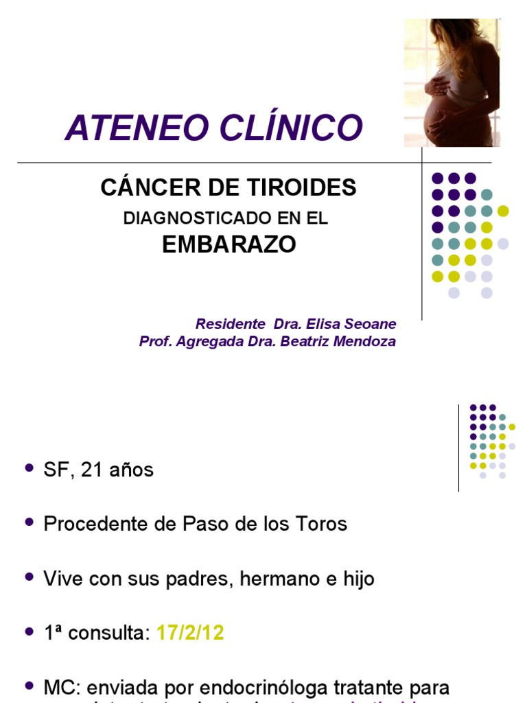 cancer tiroideo embarazo