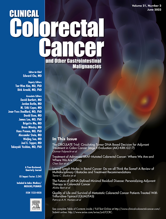colorectal cancer journal impact factor