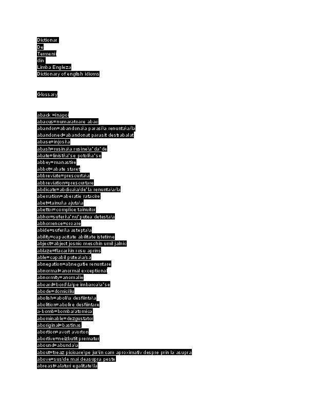 un vas parasit :: Traducere engleza romana.