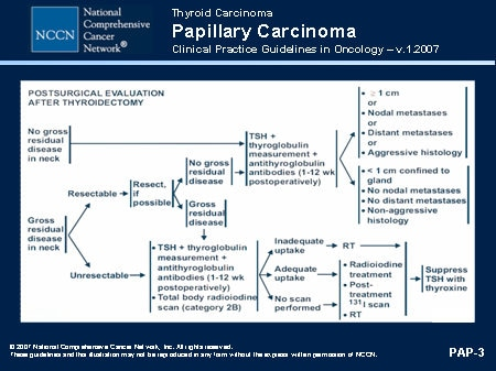 guidelines papillary thyroid cancer)