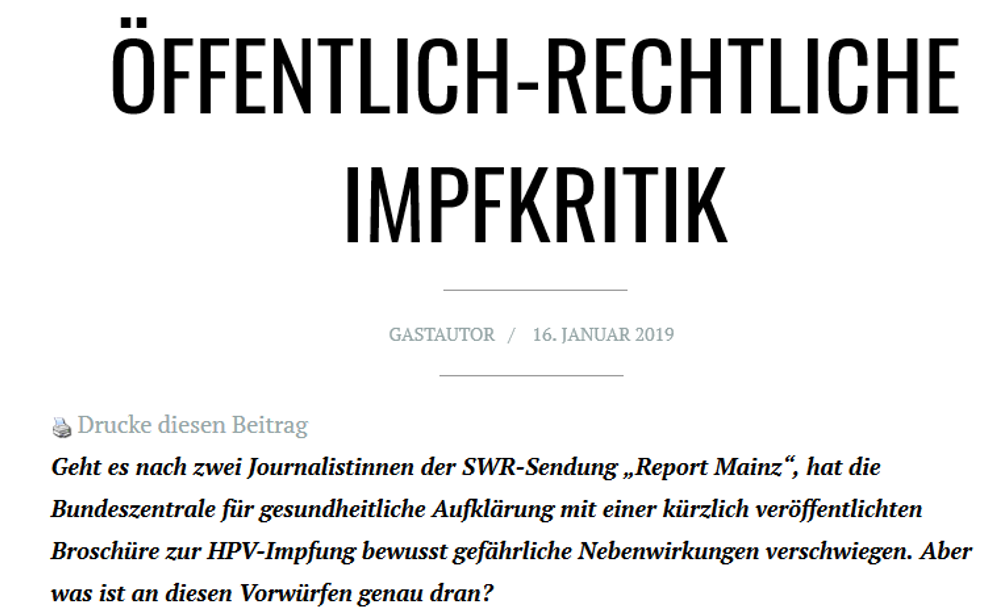 hpv impfung report mainz)