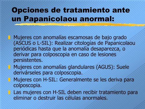 papanicolaou celulas anormales)