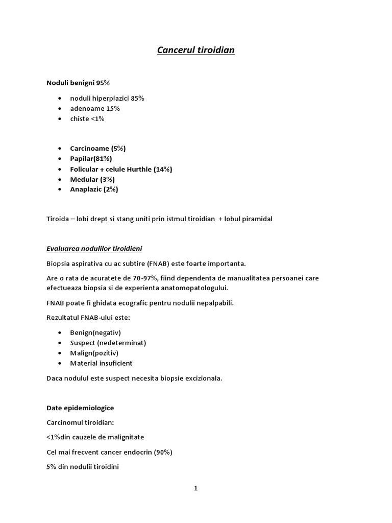 Cancerul tiroidian: simptome, tipuri, diagnosticare şi tratament