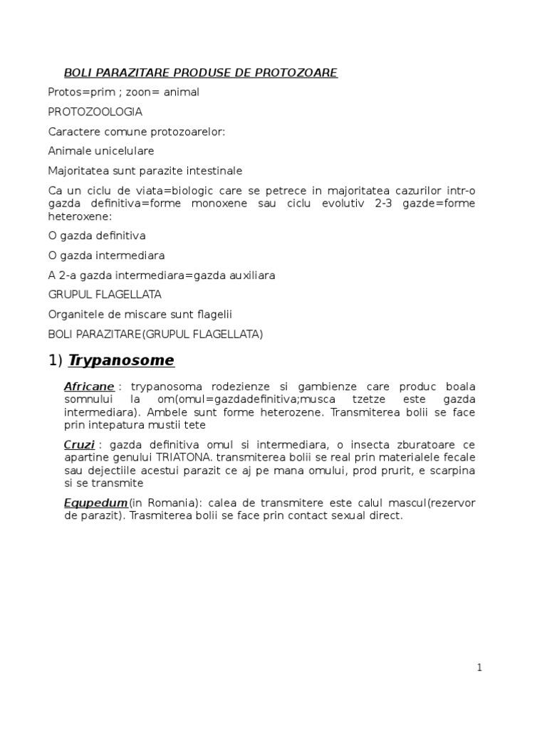 leziuni parazitare ale inimii)