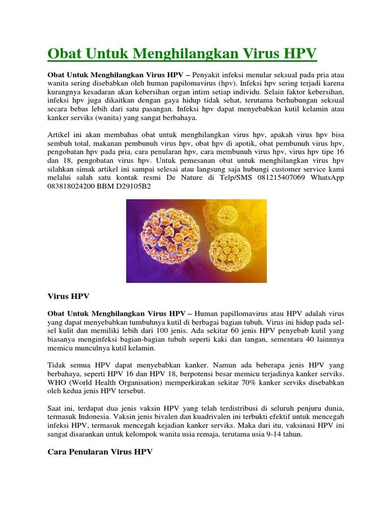 cara menghilangkan virus hpv dalam tubuh)