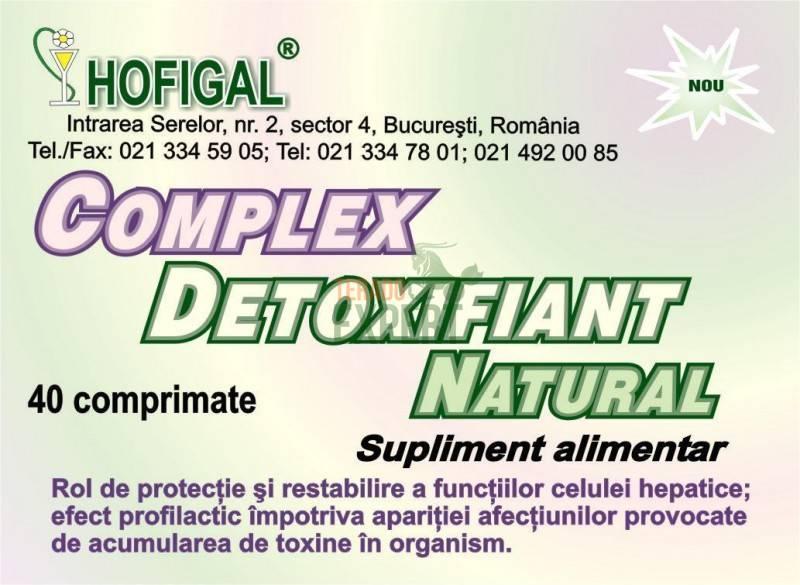 Hofigal Complex Detoxifiant Natural - 40 comprimate