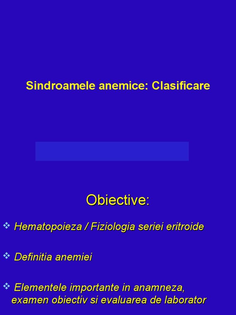 anemie clasificare