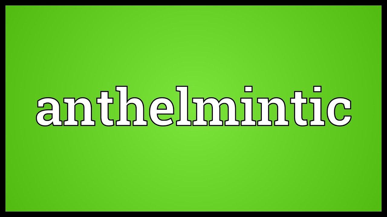 ANTHELMINTIC - Definiția și sinonimele anthelmintic în dicționarul Engleză