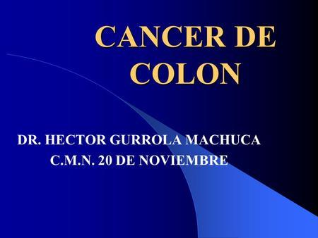 cancer de colon ppt)