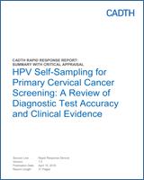 hpv dna testing in cervical cancer screening)
