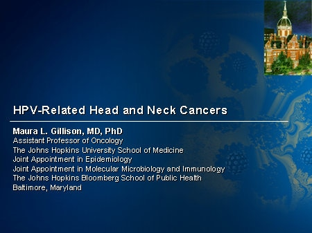 hpv head and neck cancer ppt)